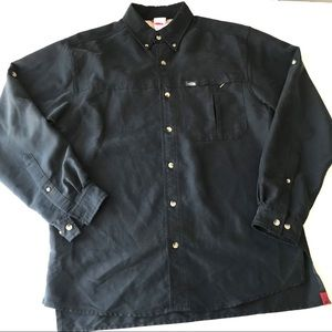 NORTH FACE Black Casual Button Up Shirt EE1
